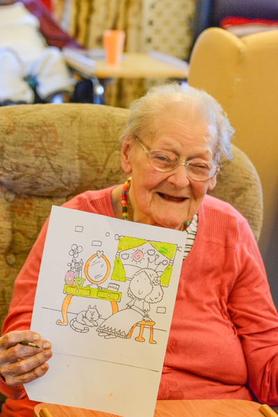 resident with picture oakcroft nursing home